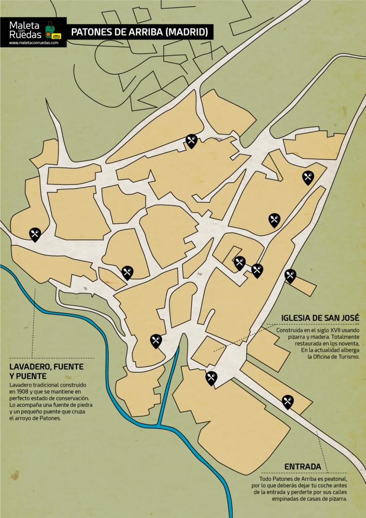 Mapa de Patones de Arriba (Madrid)