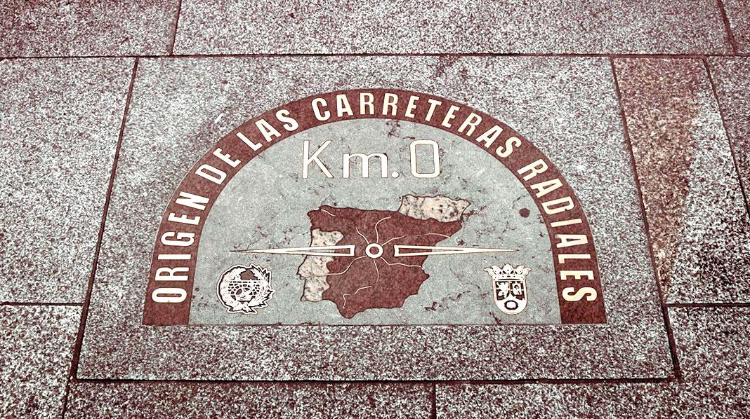 Placa del KM 0 en la Puerta del Sol