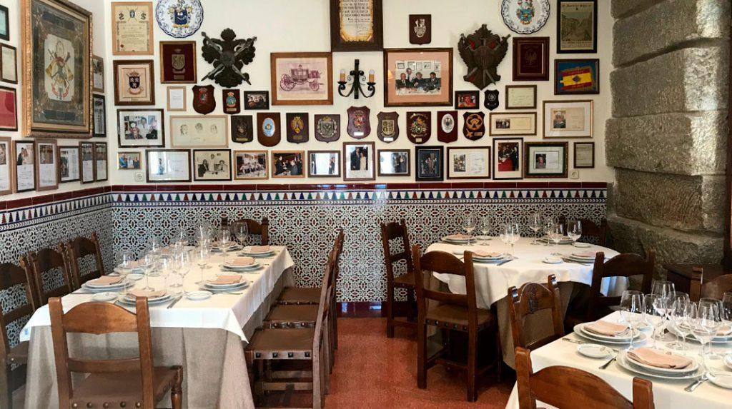 Interior de Casa Ciriaco, donde se dice que sirven los mejores callos a la madrileña de la ciudad.