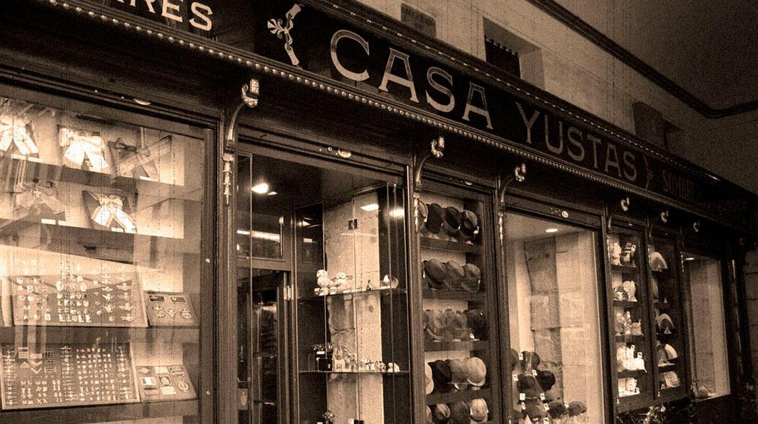 Casa Yustas, sombrerería centenaria en Plaza Mayor.