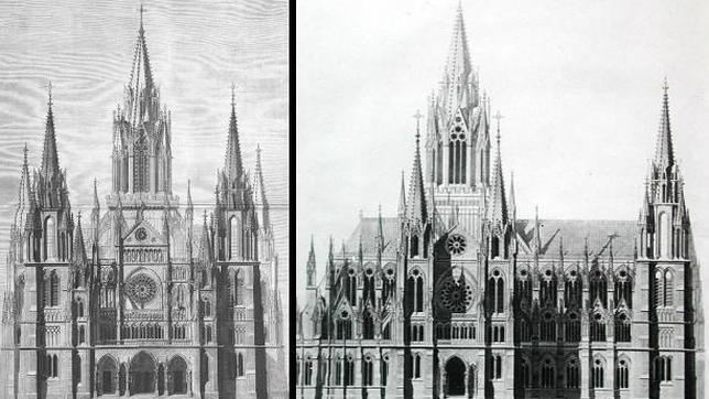 Proyecto Original de la Catedral de la Almudena, de estilo neogótico.