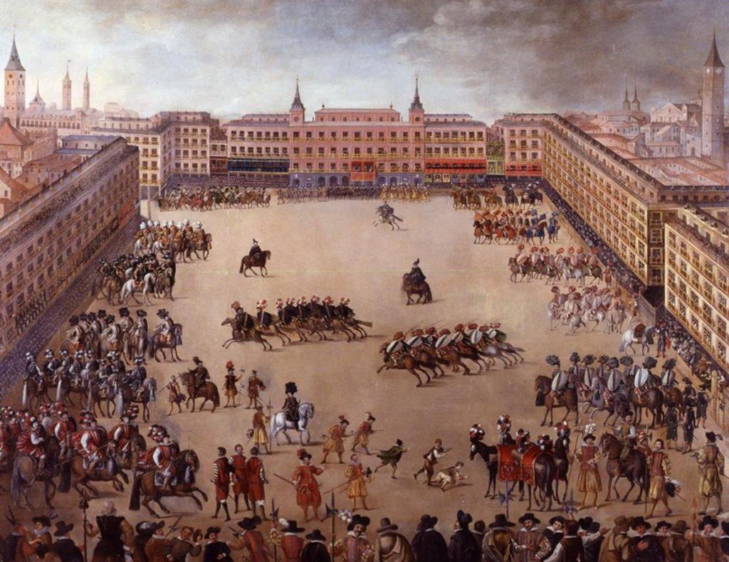 Fiesta Real en la Plaza Mayor. (1623) Juan de la Corte.