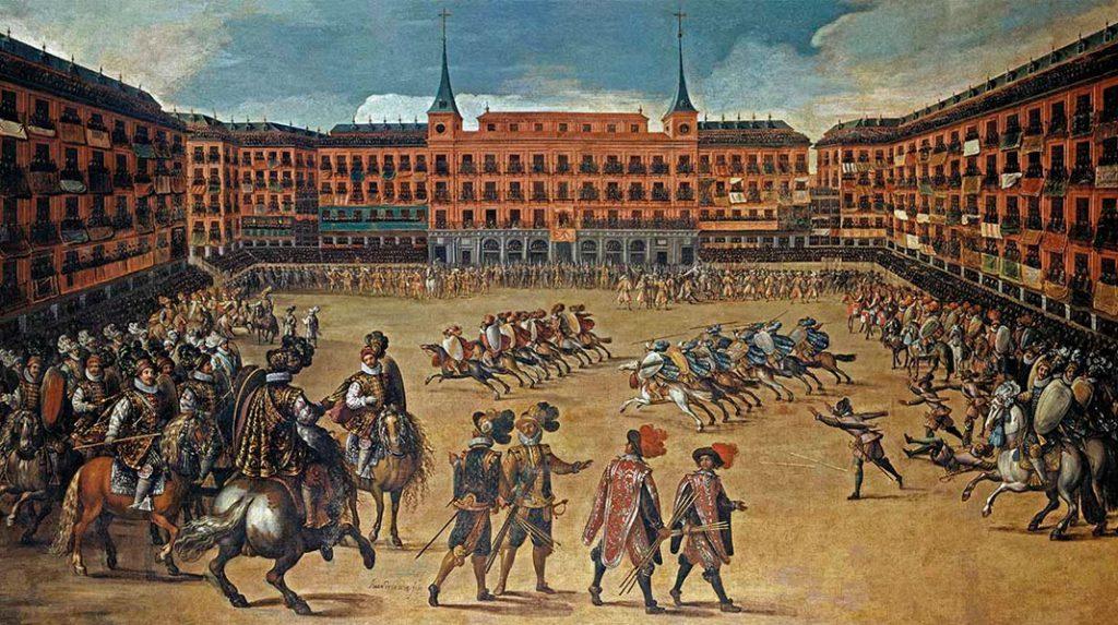 Fiesta en la Plaza Mayor de Madrid (Juan de la Corte, Museo de Historia de Madrid).