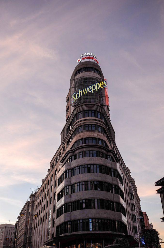 Detalle del Edificio Carrión, en la Gran Vía.
