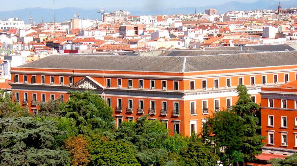 Panorámica del Palacio de Buenavista, actual sede del Cuartel General del Ejército de Tierra