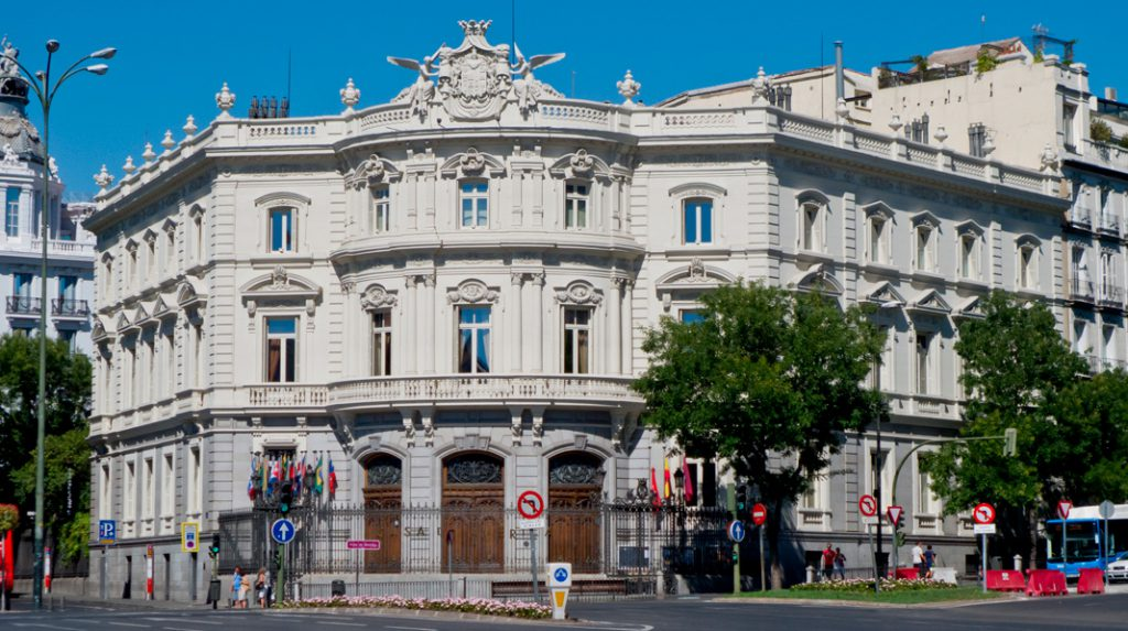 Fachada del Palacio de Linares, actual sede de la Casa de América.