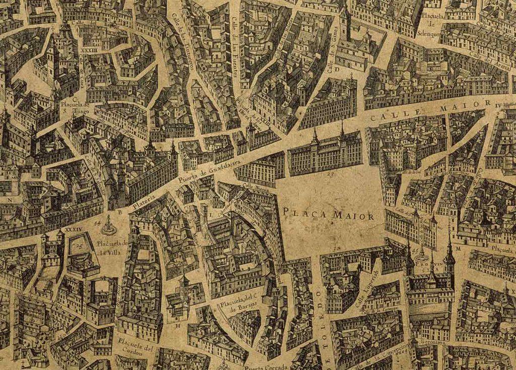 Mapa de Madrid (1656) Pedro Texeira