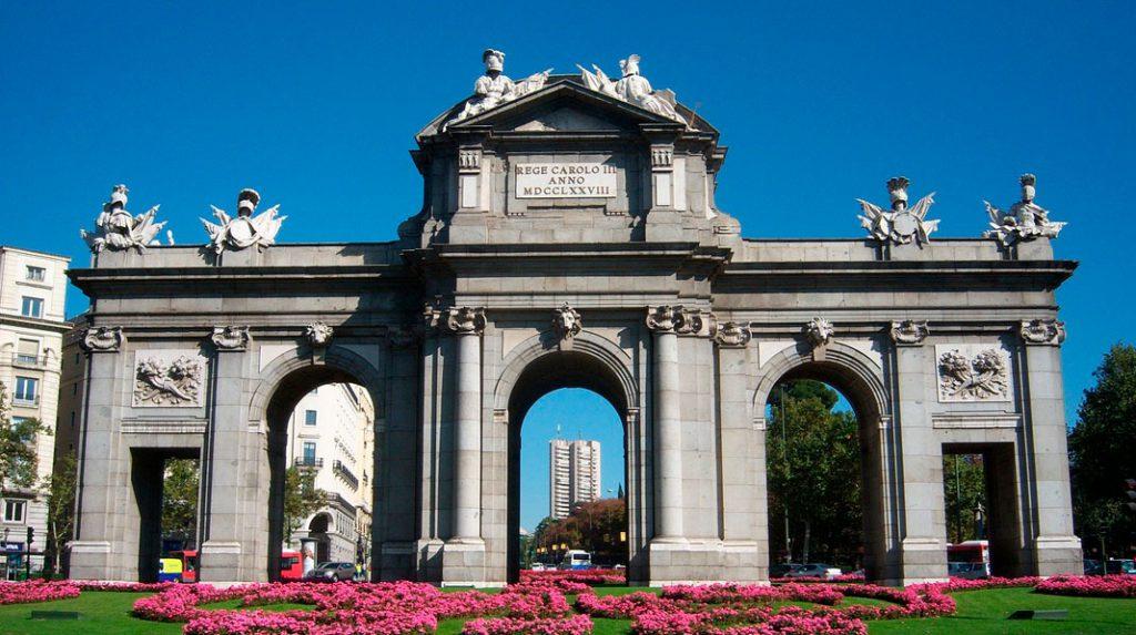 Fachada oeste de la Puerta de Alcalá.