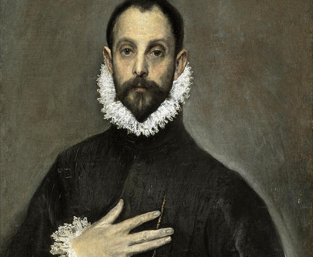 El Caballero de la mano en el pecho, El Greco. Hacia 1580.