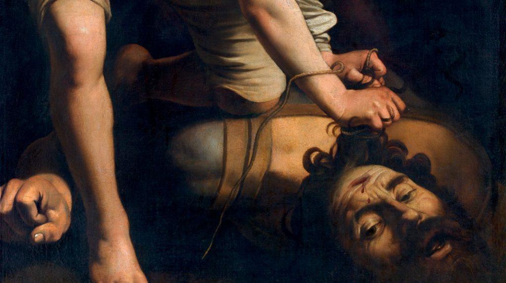 David vencedor de Goliat, Caravaggio. Hacia 1600.