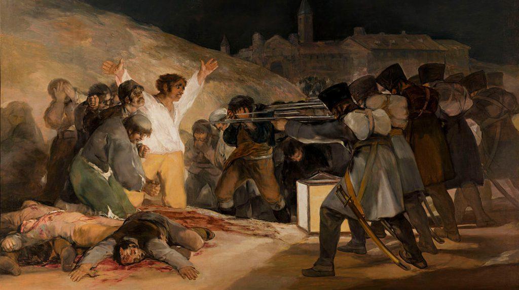"""El 3 de Mayo en Madrid o """"Los Fusilamientos"""", Francisco de Goya. 1814."""