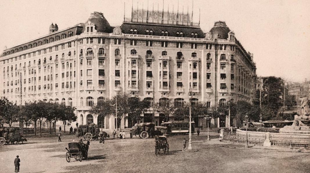 Imagen del Hotel Palace poco después de su inauguración.