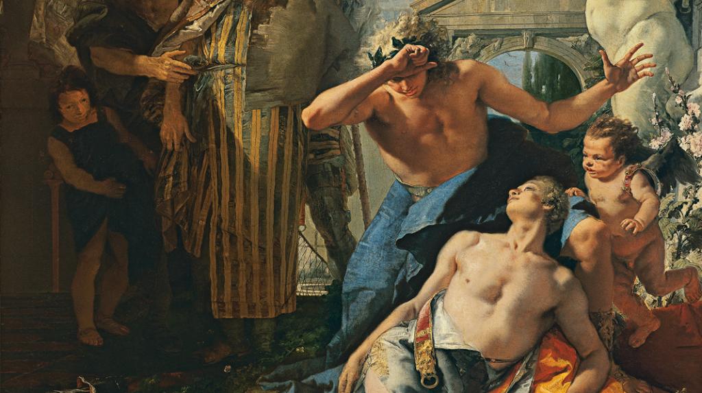 La muerte de Jacinto, Giambattista Tiepolo.