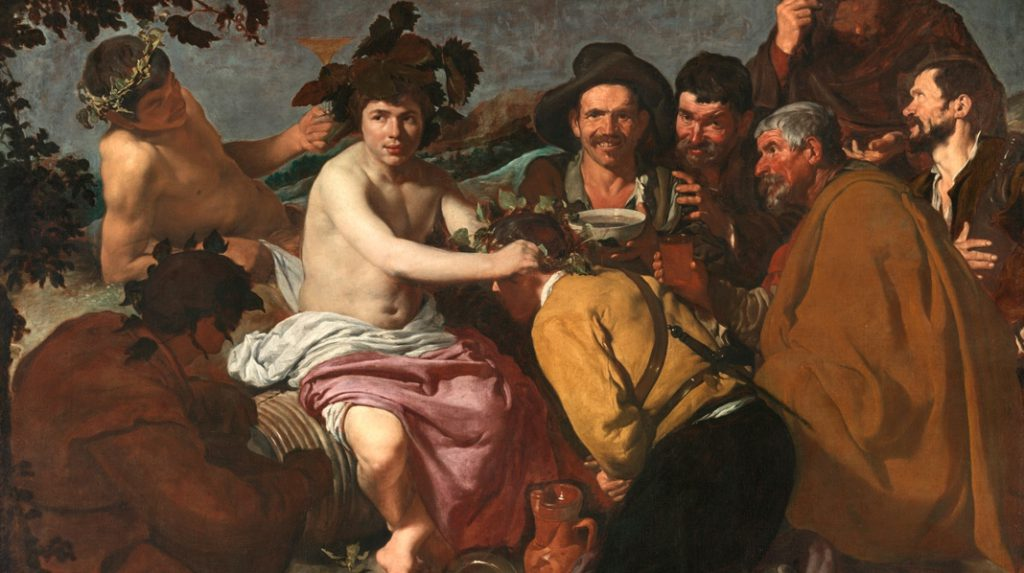 Los Borrachos, o El Triunfo de Baco, Diego Velázquez. 1628-1629.