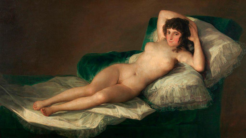 La Maja Desnuda, Francisco de Goya. 1795-1800.