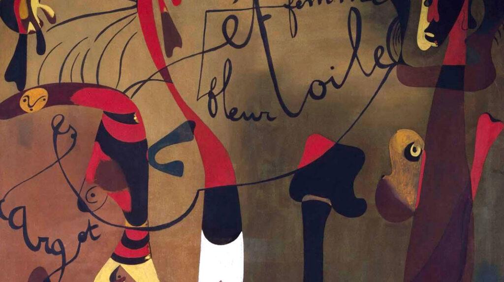Pintura (caracol, mujer, flor, estrella). Joan Miró, 1934.