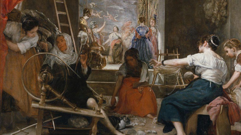 Las Hilanderas, Diego Velázquez. 1655-1660.