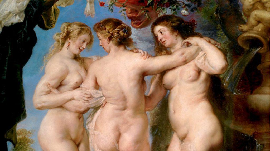 Las Tres Gracias, Rubens. 1630-1635.