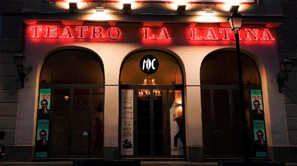 Fachada principal del alternativo Teatro de la Latina.