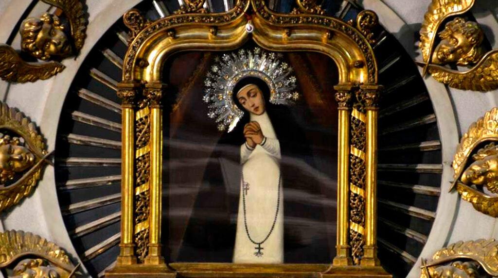 Pintura de la Virgen de la Paloma.