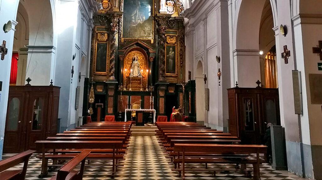 Interior de la Iglesia de San Pedro el Viejo en La Latina.