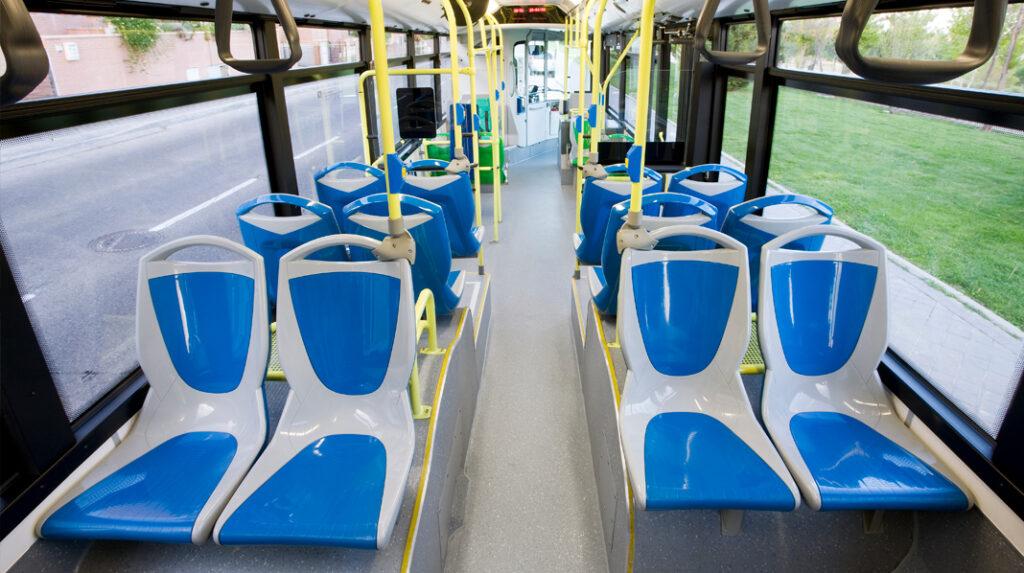 Aspecto interior de los Autobuses urbanos de Madrid.