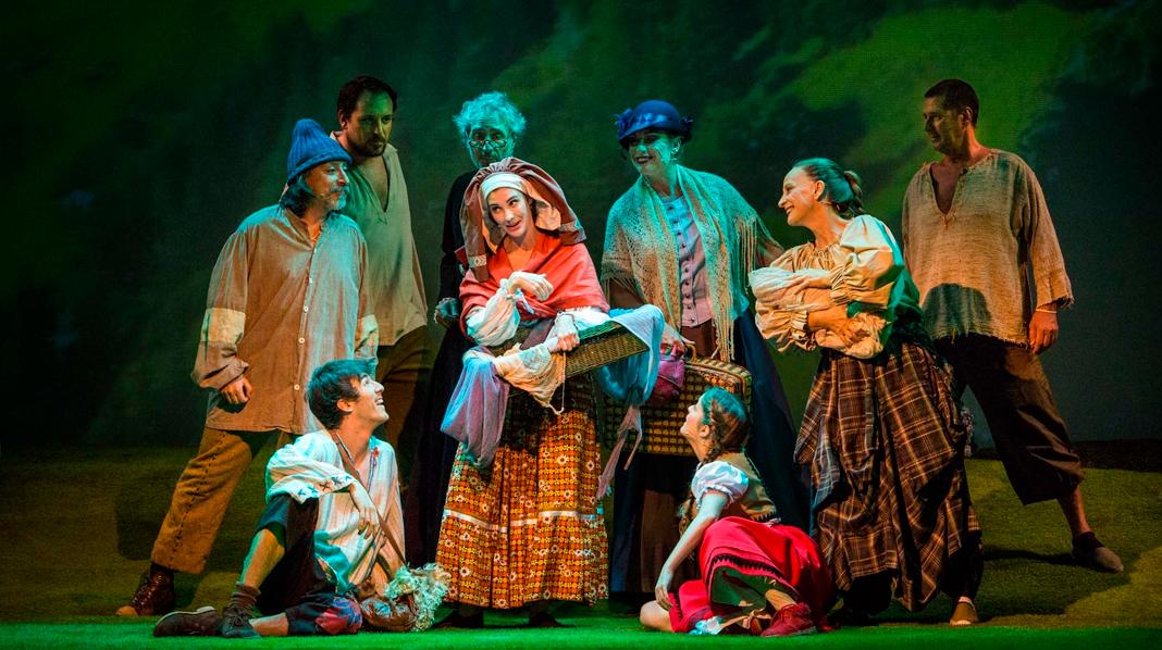 Representación de una obra infantil en el Teatro Sanpol.
