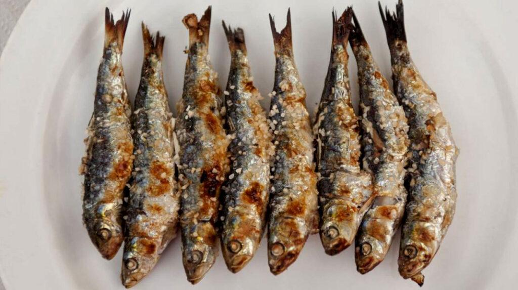 Sardinas asadas a las brasas, típico plato marinero de la costa española.